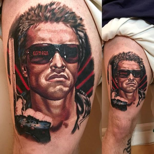 Arnold Schwarzenegger as The Terminator tattoo